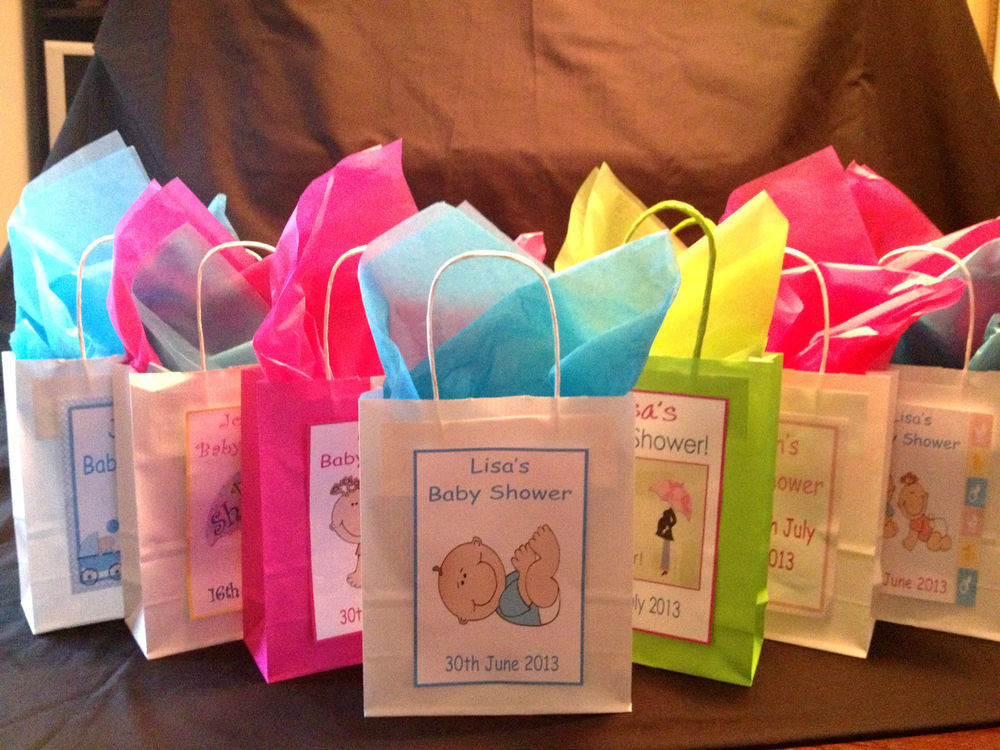Best ideas about Baby Shower Gift Bags Ideas . Save or Pin Personalised BABY SHOWER FAVOUR Gift Bags Various Now.
