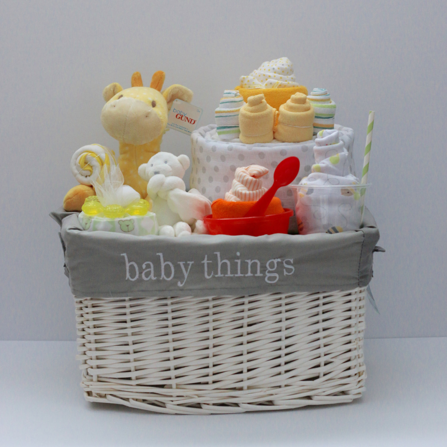 Best ideas about Baby Shower Gift Basket Ideas . Save or Pin Gender Neutral Baby Gift Basket Baby Shower Gift Unique Baby Now.