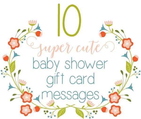 Best ideas about Baby Shower Gift Card Ideas . Save or Pin Top 10 Baby Shower Gift Card Message Ideas ⋆ Little Girls Now.