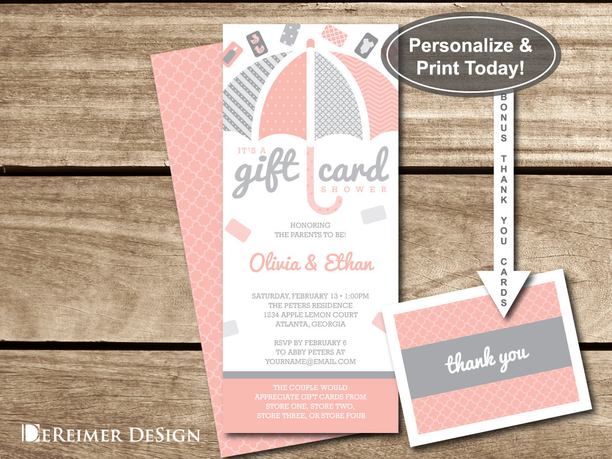 Best ideas about Baby Shower Gift Card Ideas . Save or Pin Gift Card Shower Invitation Gift Card Baby Shower Baby Now.