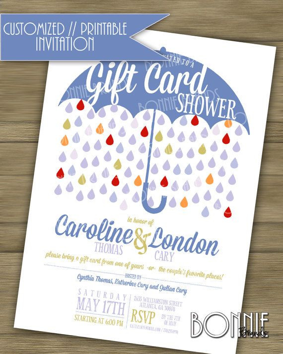 Best ideas about Baby Shower Gift Card Ideas . Save or Pin CUSTOMIZED PRINTABLE Couple s Wedding Shower Now.