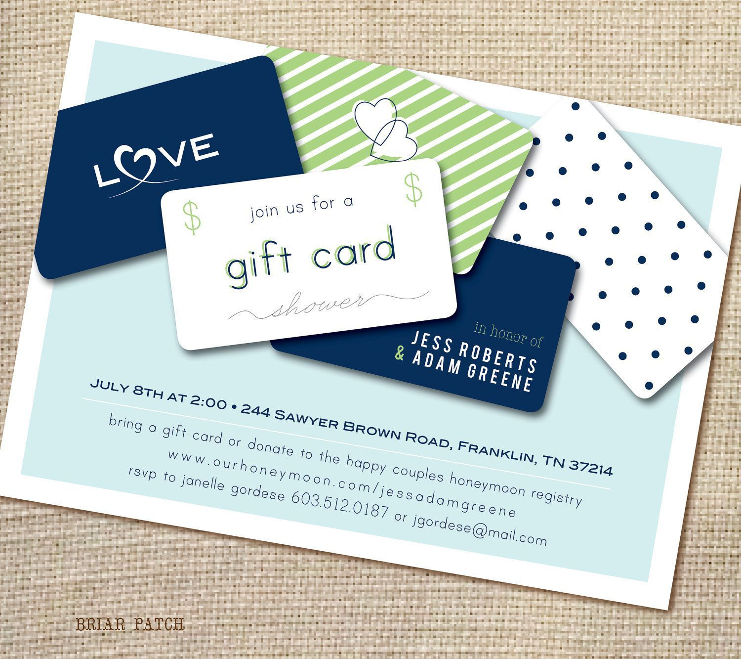 Best ideas about Baby Shower Gift Card Ideas . Save or Pin t card bridal shower invitation wording Now.