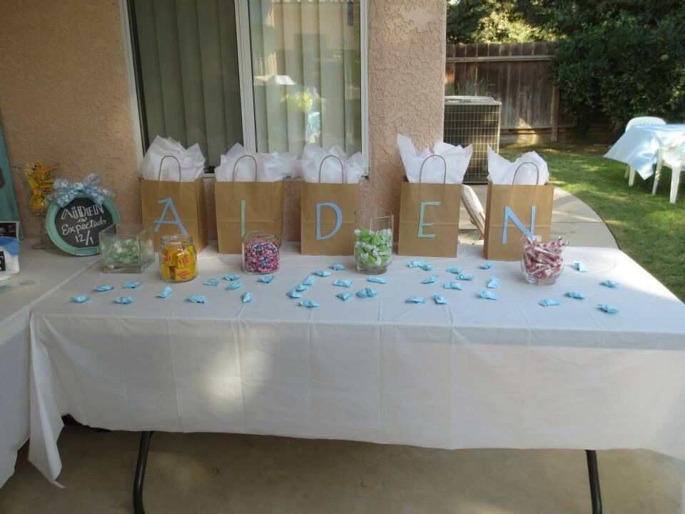 Best ideas about Baby Shower Gift Ideas For Games . Save or Pin Gifts for baby shower game winners with candy scattered Now.