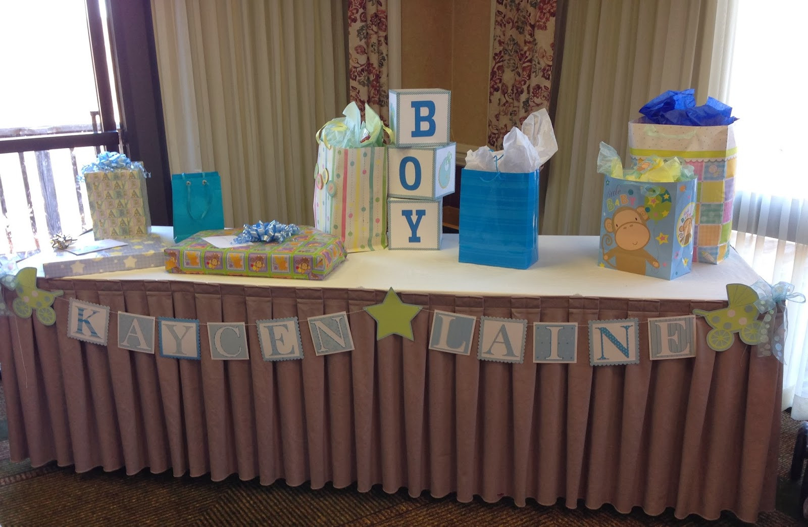 Best ideas about Baby Shower Gift Table Ideas . Save or Pin Mrs Crafty Adams Baby Shower Decorations Now.
