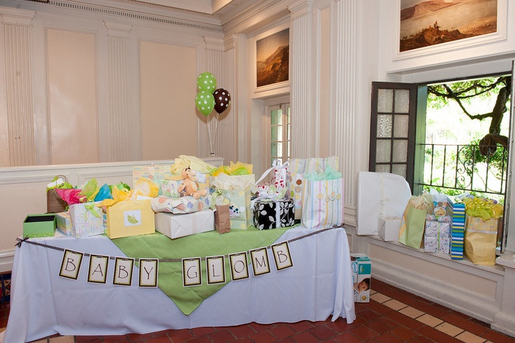 Best ideas about Baby Shower Gift Table Ideas . Save or Pin Baby Shower Gift Table with Banner Now.