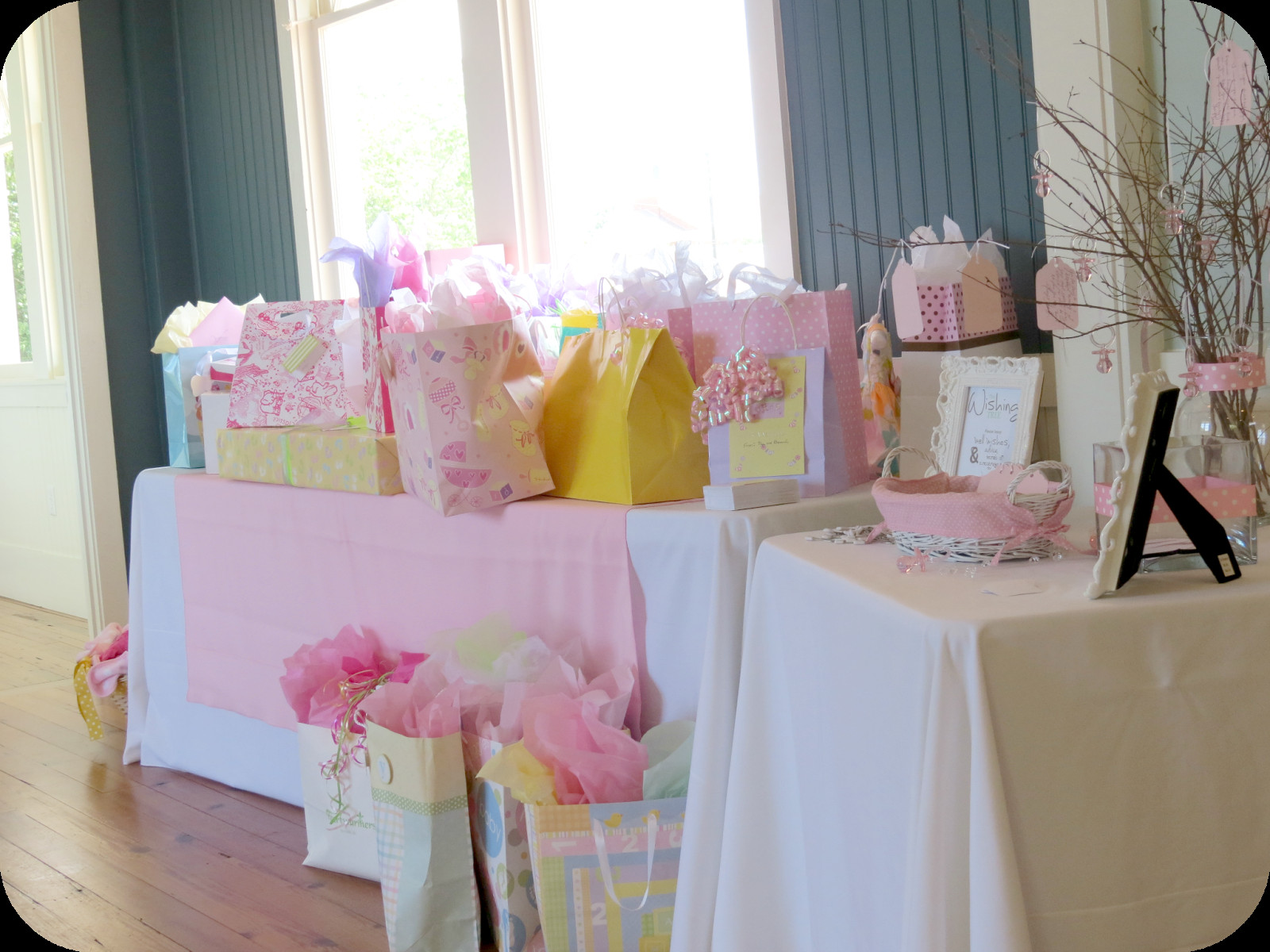 Best ideas about Baby Shower Gift Table Ideas . Save or Pin Sweet Beginnings Baby Shower Now.
