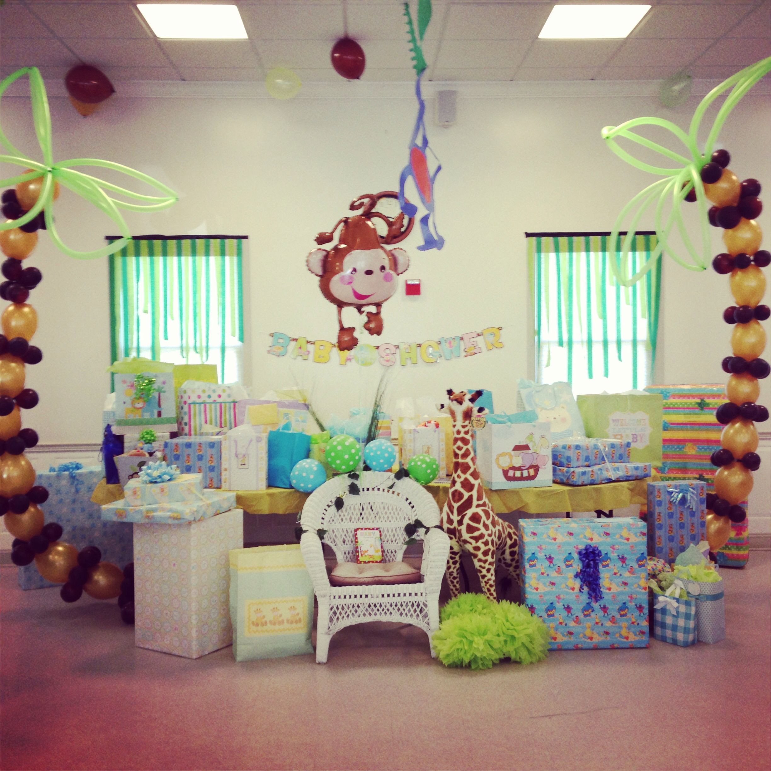 Best ideas about Baby Shower Gift Table Ideas . Save or Pin Gift table jungle themed baby shower Now.