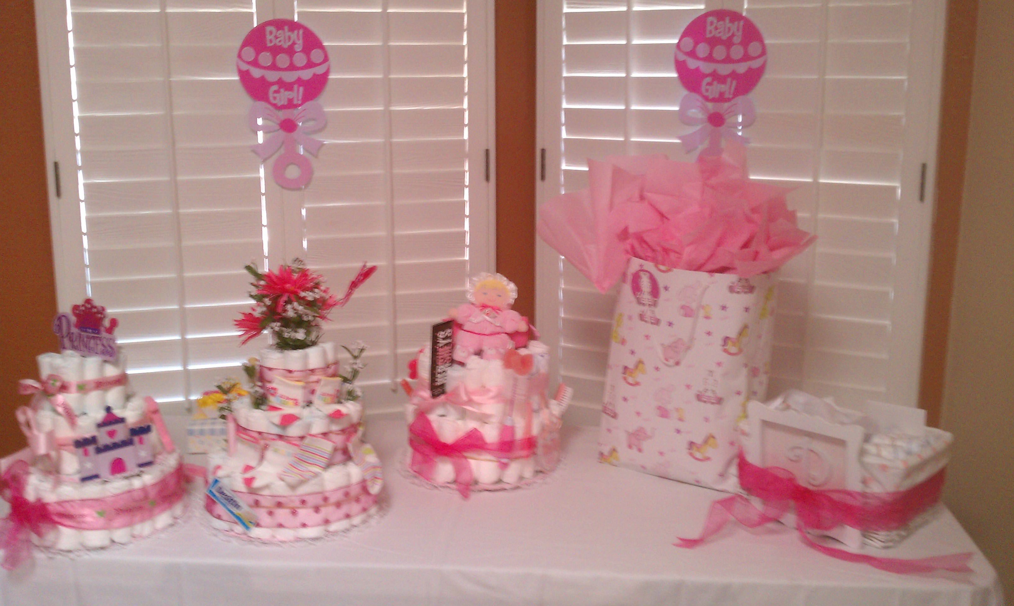 Best ideas about Baby Shower Gift Table Ideas . Save or Pin Tables Chairs Pink Linens Baby Shower Now.