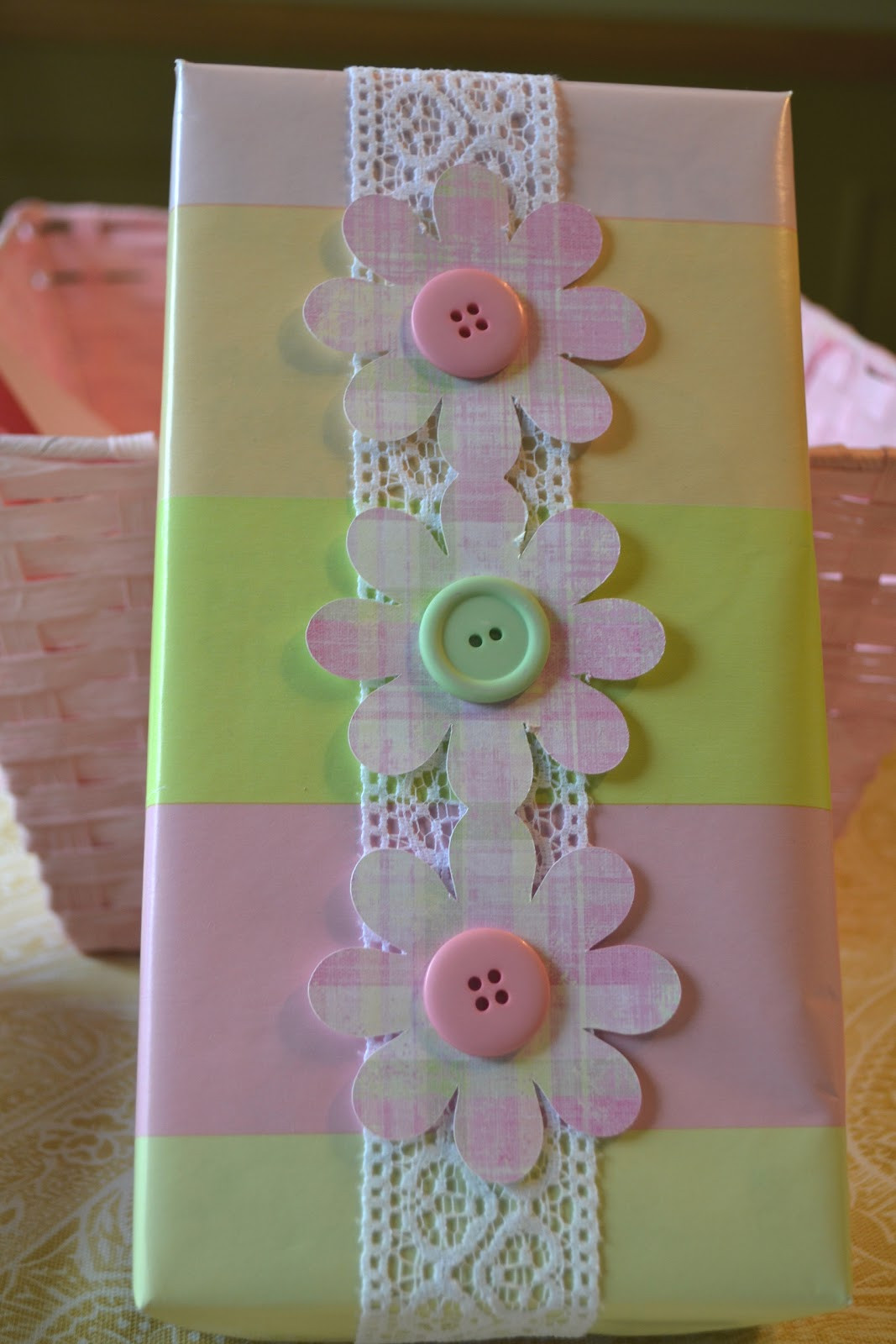 Best ideas about Baby Shower Gift Wrapping Ideas . Save or Pin Corner of Plaid and Paisley Baby Shower Gift Wrap Now.