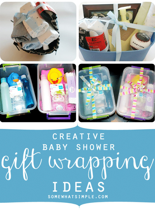 Best ideas about Baby Shower Gift Wrapping Ideas . Save or Pin Creative Baby Shower Gift Wrapping Somewhat Simple Now.