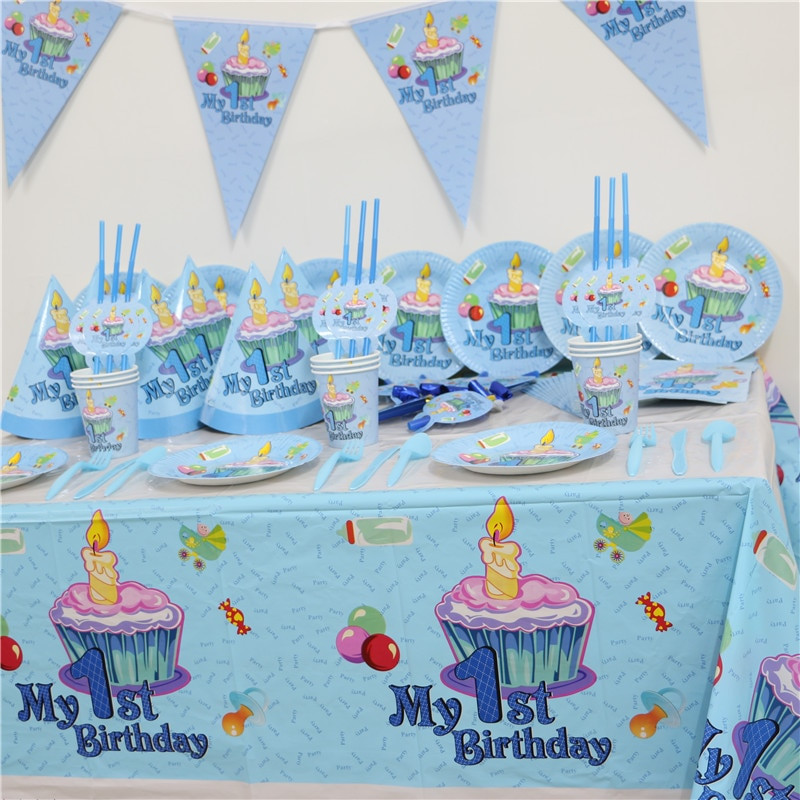 Best ideas about Baby's First Birthday Party Ideas . Save or Pin 102pcs Kids First Birthday Party Set 10 people Girl Boy Now.