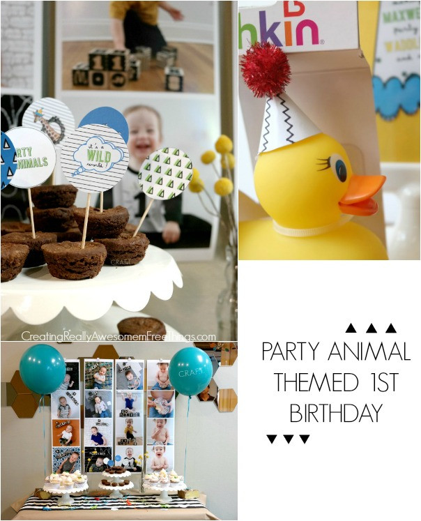 Best ideas about Baby's First Birthday Party Ideas . Save or Pin Party Animal 1st Birthday first birthday ideas C R A F T Now.