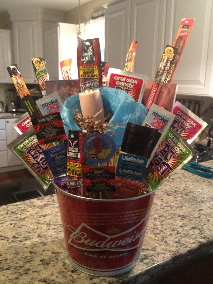 Best ideas about Bachelor Party Gift Ideas . Save or Pin Pin by Peggy Bielke on t baskets Now.