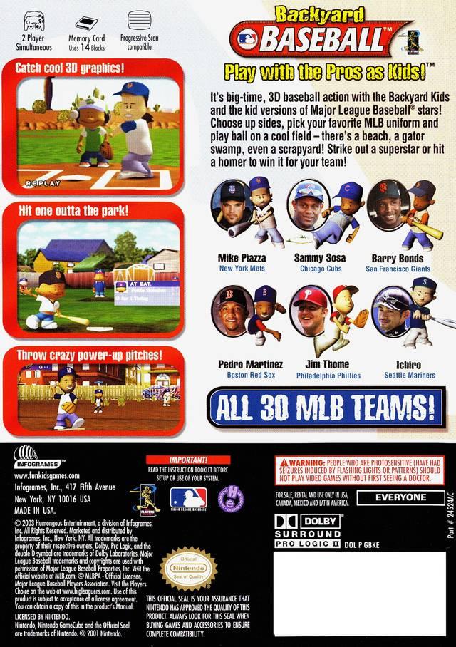 Best ideas about Backyard Baseball Gamecube . Save or Pin Backyard Baseball Box Shot for GameCube GameFAQs Now.