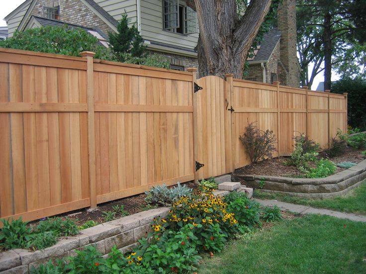 Best ideas about Backyard Fence Ideas . Save or Pin Fence for backyard Full height for sides and back lower Now.