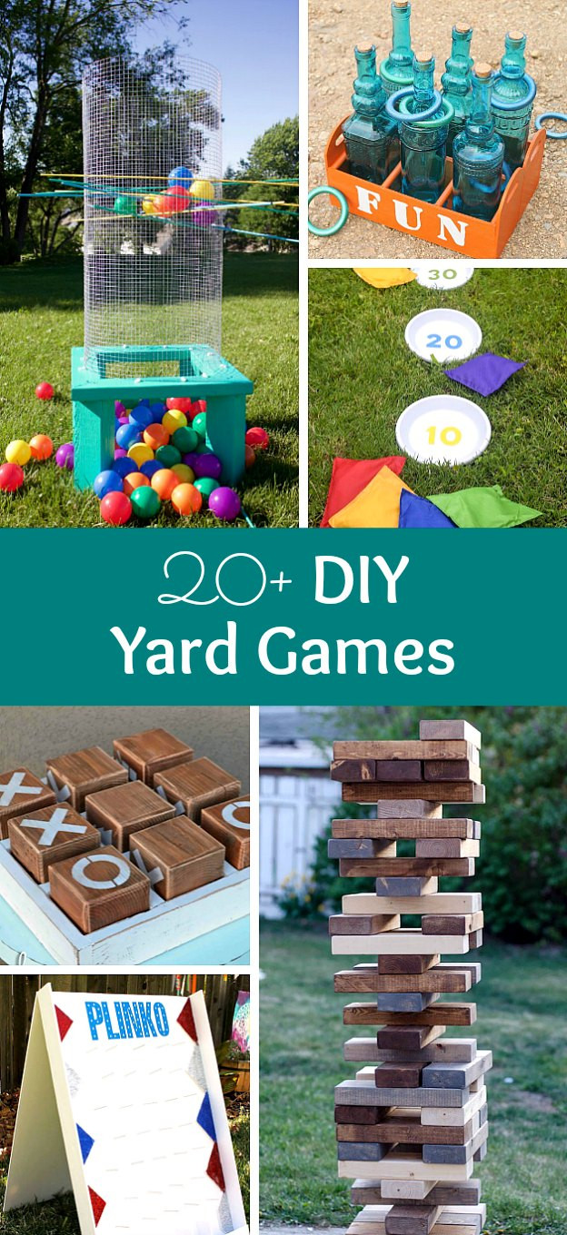 Best ideas about Backyard Games DIY . Save or Pin 20 DIY Yard Games Plus Classic Lawn Games to Buy Now.
