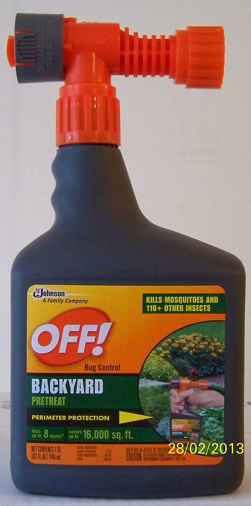 Best ideas about Backyard Mosquito Repellent . Save or Pin 2 32 ounce bottles OFF Mosquito Repellent Backyard Bug Now.