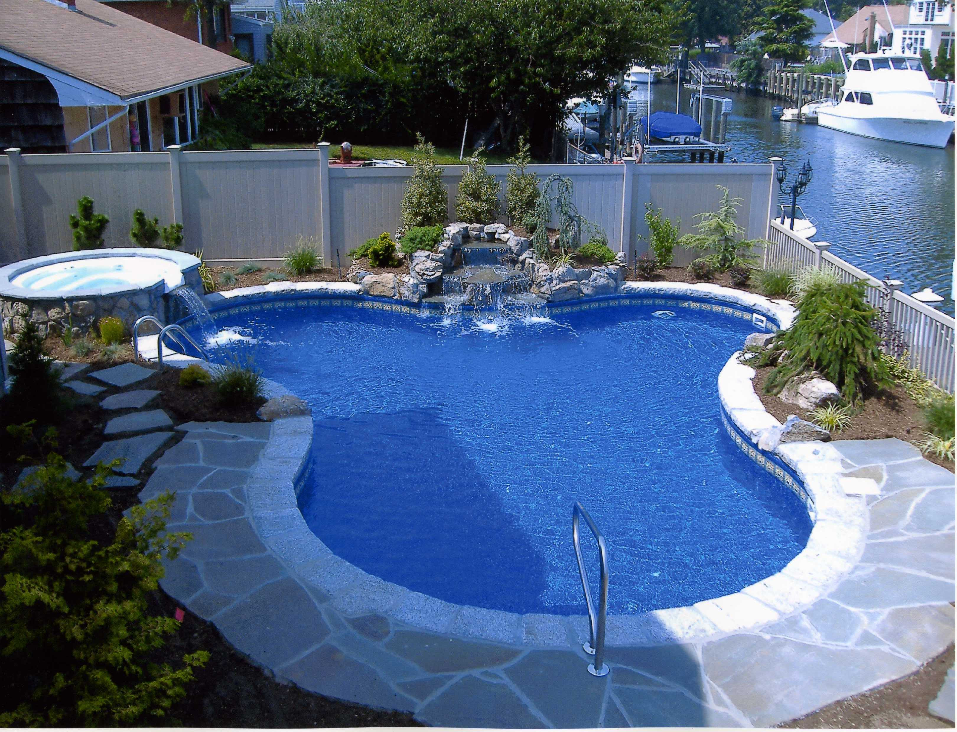 Best ideas about Backyard Pool Ideas . Save or Pin Backyard Landscaping Ideas Swimming Pool Design Now.