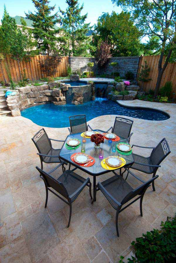 Best ideas about Backyard Pool Ideas . Save or Pin 28 Fabulous Small Backyard Designs with Swimming Pool Now.