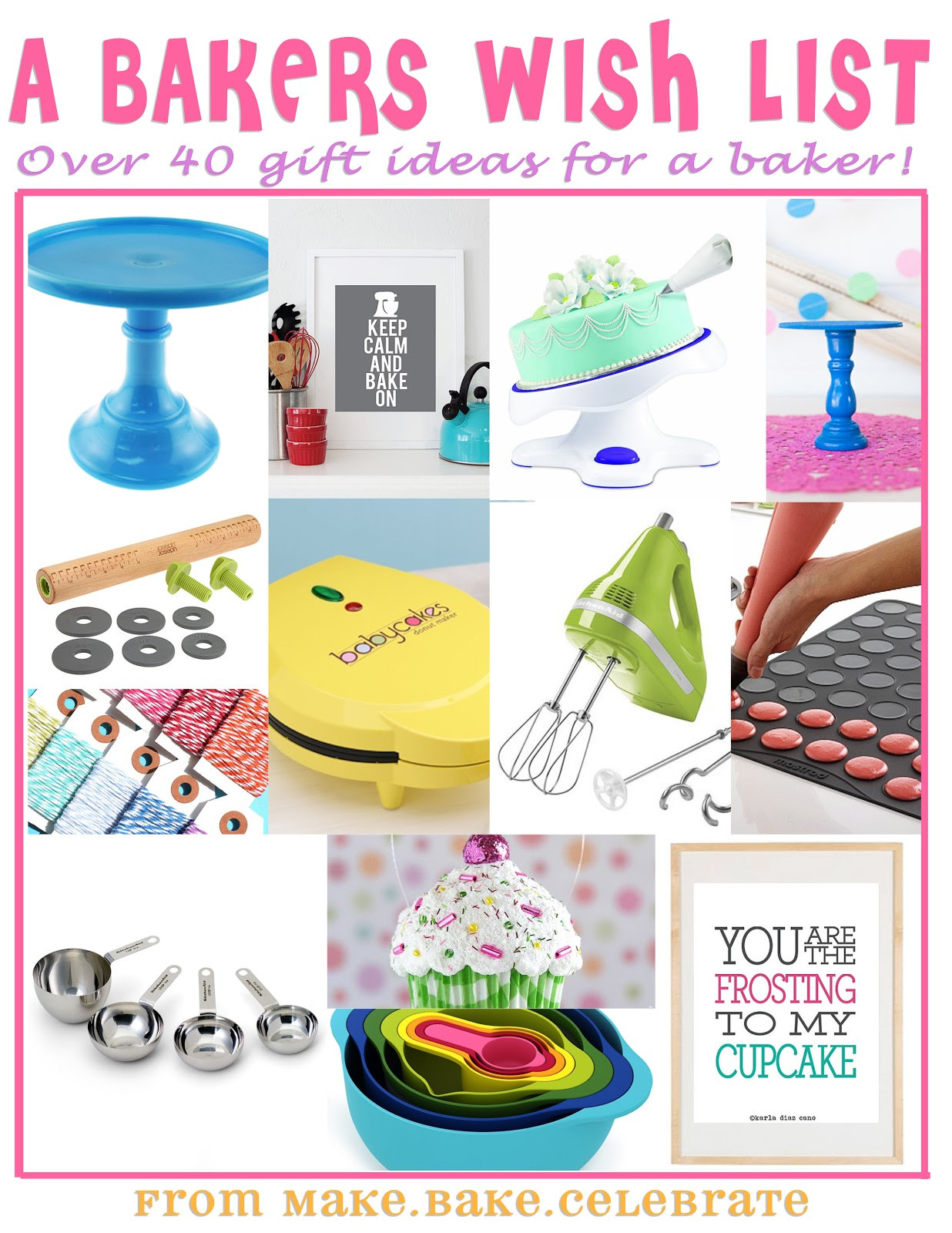 Best ideas about Baker Gift Ideas . Save or Pin MBC Santa baby 40 different baker t ideas Now.