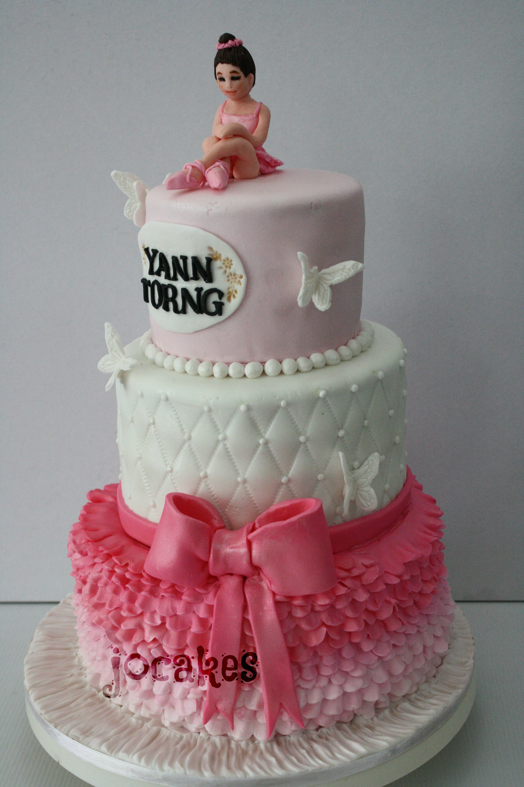 Best ideas about Ballerina Birthday Cake . Save or Pin Ballerina cake for Yann Torng 21st birthday Now.