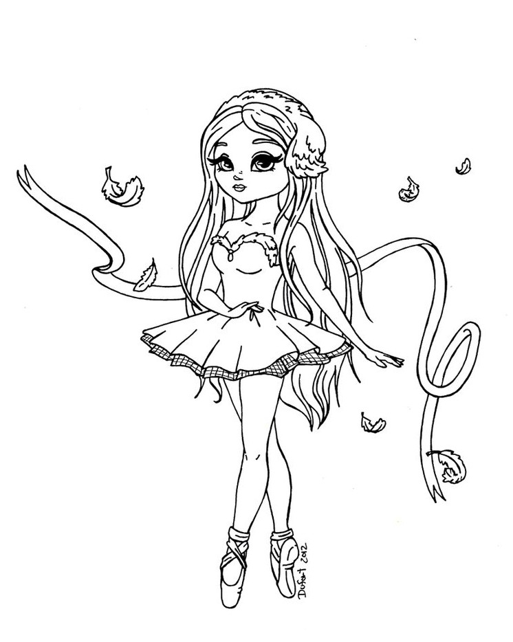 Best ideas about Ballerina Coloring Pages For Girls . Save or Pin Beautiful Ballerina Coloring Pages Now.