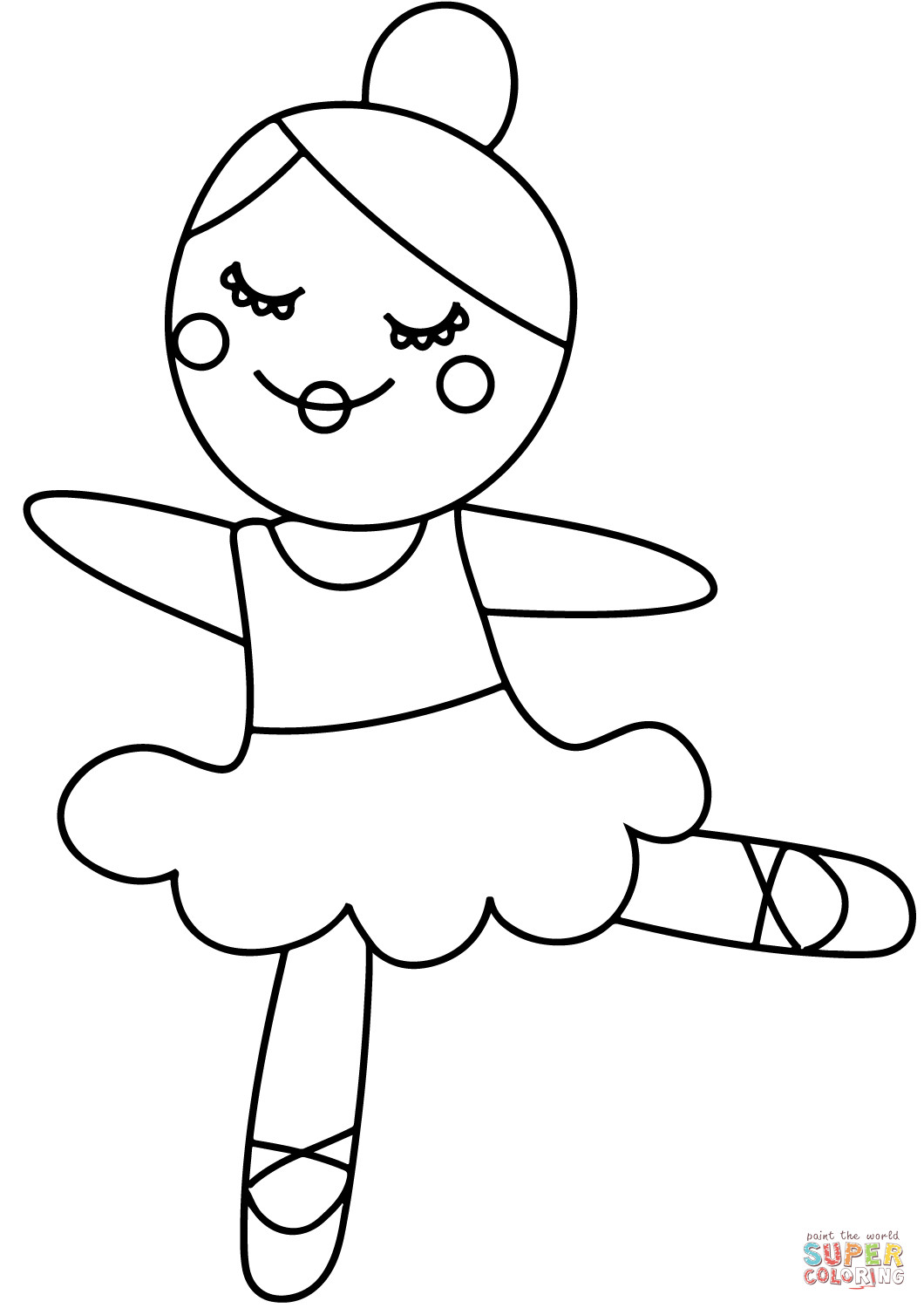 Best ideas about Ballerina Coloring Pages For Girls . Save or Pin Cartoon Ballerina coloring page Now.