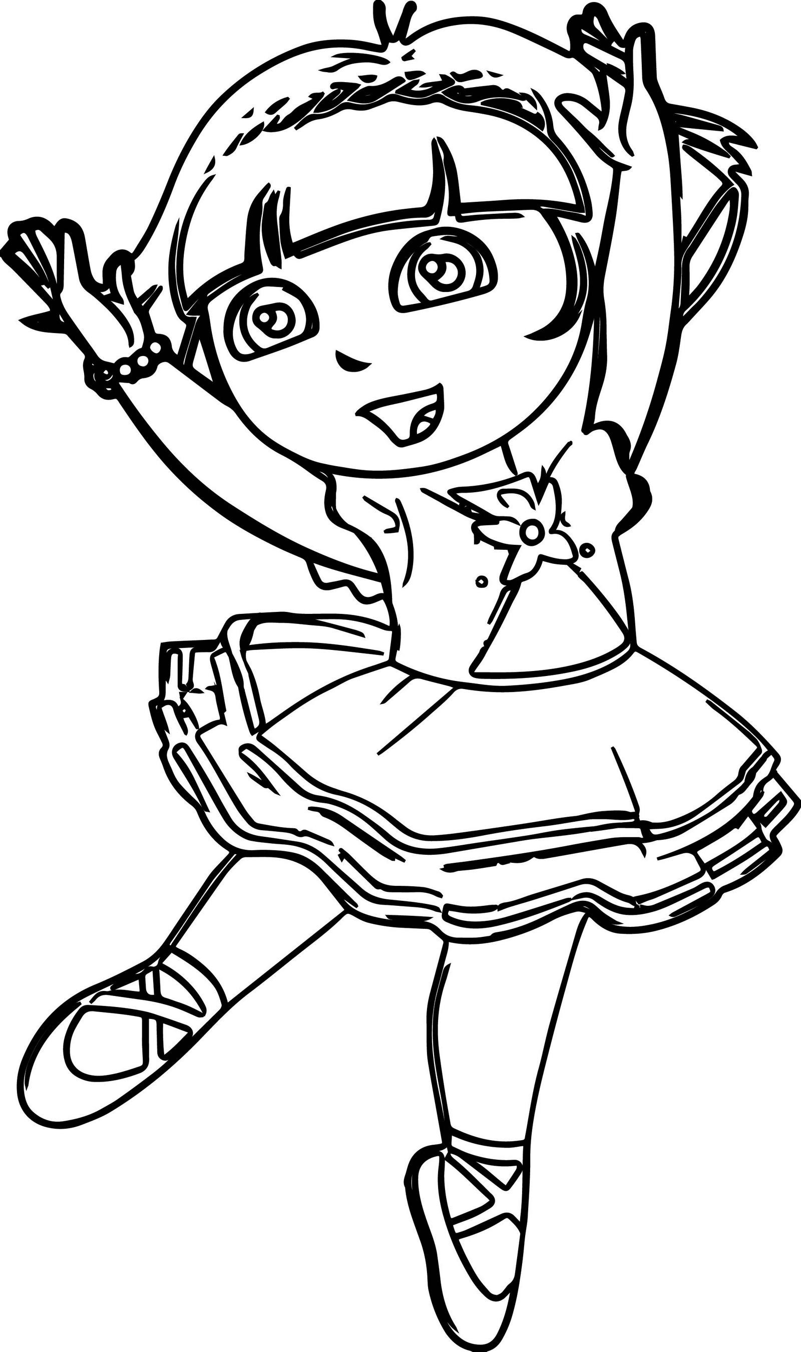 Best ideas about Ballerina Coloring Pages For Girls . Save or Pin Dora The Explorer Ballerina Coloring Page Now.