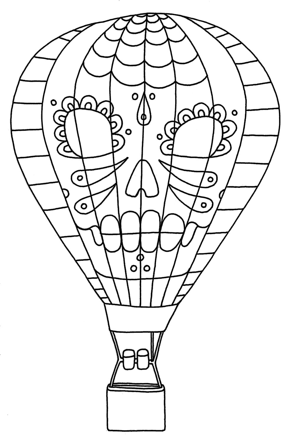 Best ideas about Balloon Coloring Pages For Kids . Save or Pin Free Printable Hot Air Balloon Coloring Pages For Kids Now.