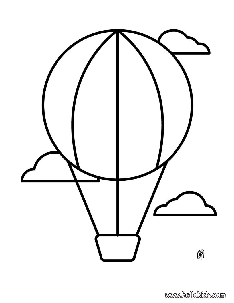 Best ideas about Balloon Coloring Pages For Kids . Save or Pin Hot air balloon coloring pages Hellokids Now.