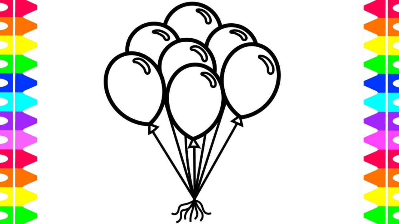 Best ideas about Balloon Coloring Pages For Kids . Save or Pin LEARN HOW TO DRAW AND COLOR BALLOONS Coloring Pages for Now.