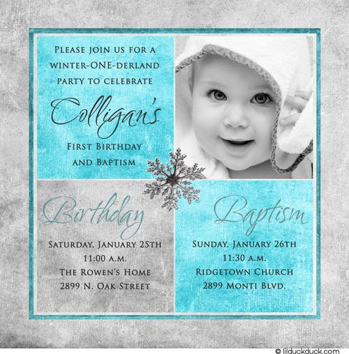 Best ideas about Baptism Birthday Invitations . Save or Pin 1st birthday and christening baptism invitation sample Now.