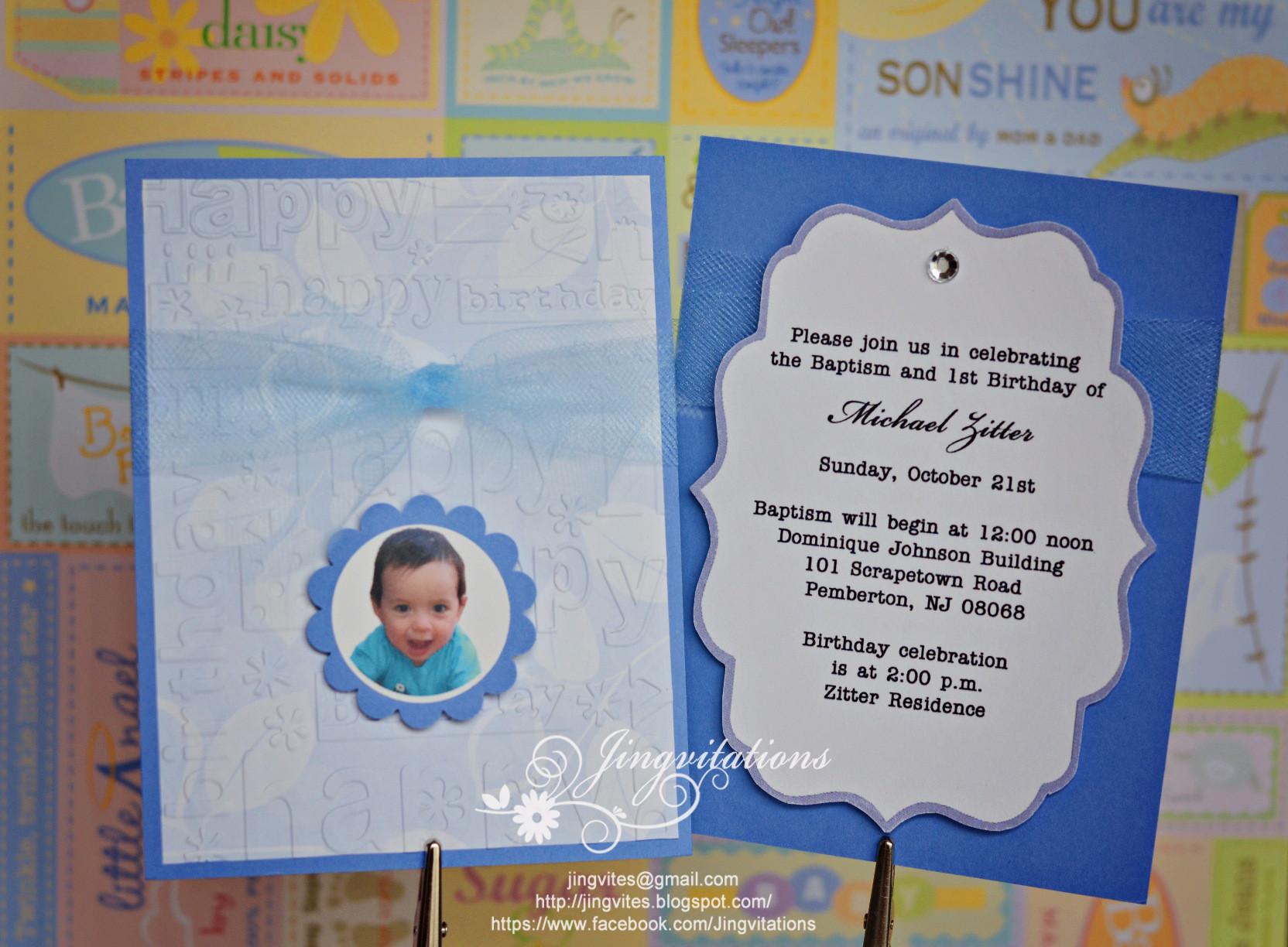 Best ideas about Baptism Birthday Invitations . Save or Pin Baptism and First Birthday Invitations Now.