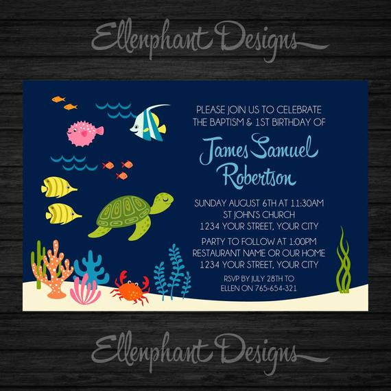 Best ideas about Baptism Birthday Invitations . Save or Pin Baptism and First Birthday invitation 1st joint Now.