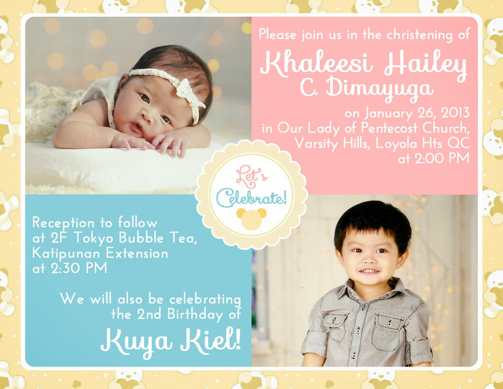 Best ideas about Baptism Birthday Invitations . Save or Pin Lique s Antics Planning a double celebration Baptism and Now.