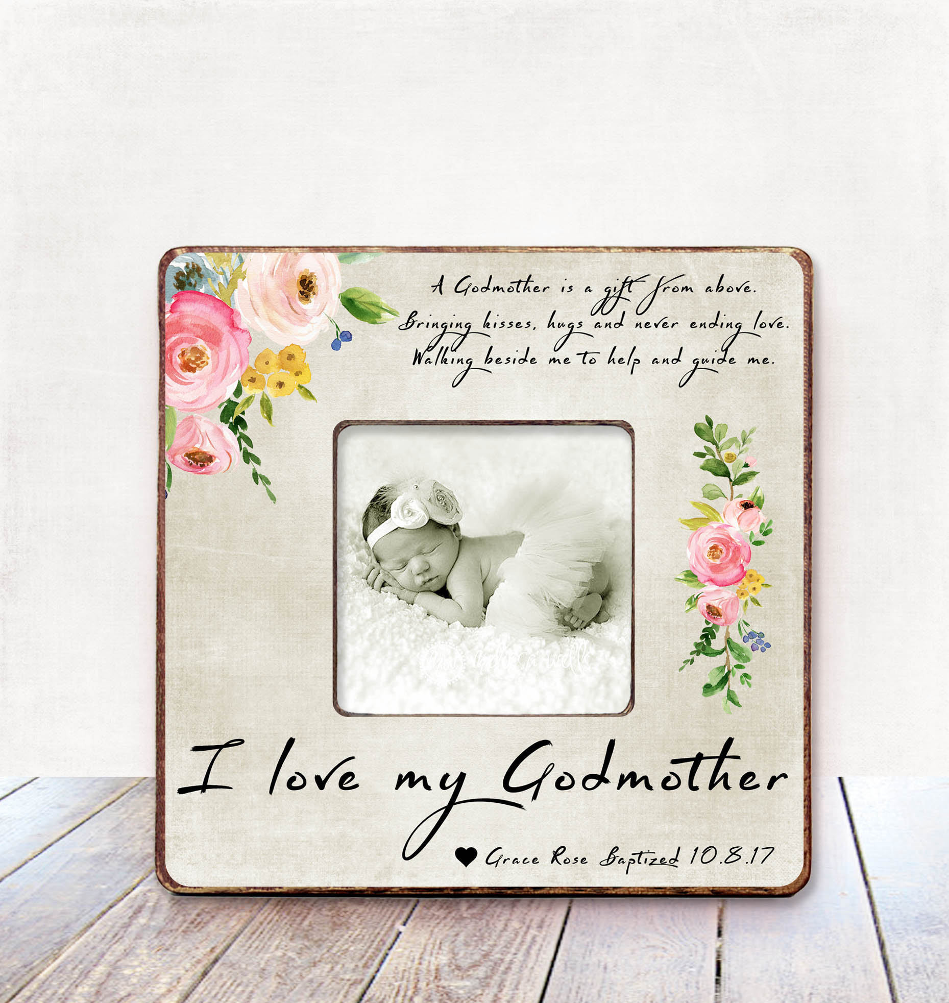 Best ideas about Baptism Gift Ideas From Godmother . Save or Pin Godmother Gift for Godmother Frame Godmother Baptism Gift Now.