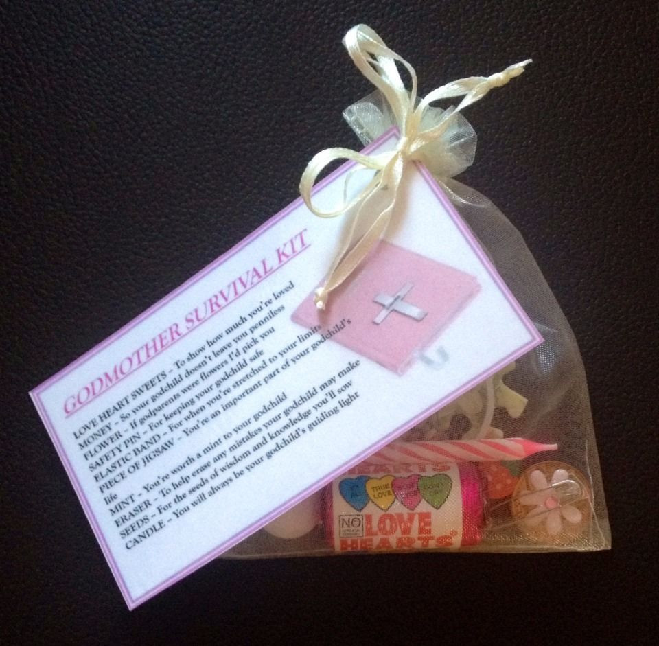 Best ideas about Baptism Gift Ideas From Godmother . Save or Pin GODMOTHER Survival Kit GIFT For GODPARENTS CHRISTENING Now.