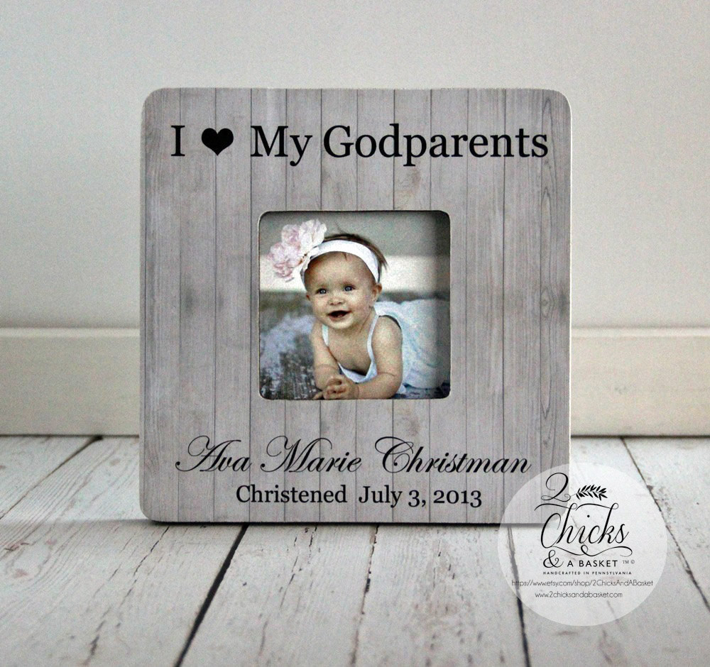 Best ideas about Baptism Gift Ideas From Godmother . Save or Pin Godparent Gift Personalized Christening Picture Frame Now.