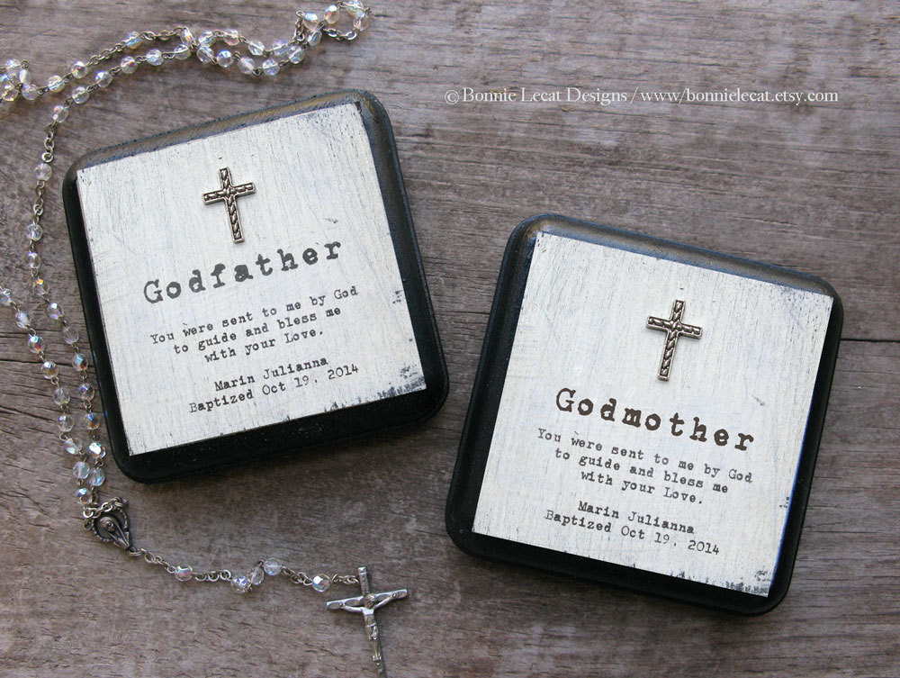 Best ideas about Baptism Gift Ideas From Godmother . Save or Pin Personalized Baptism Gift Set Godmother Gift Godfather Gift Now.