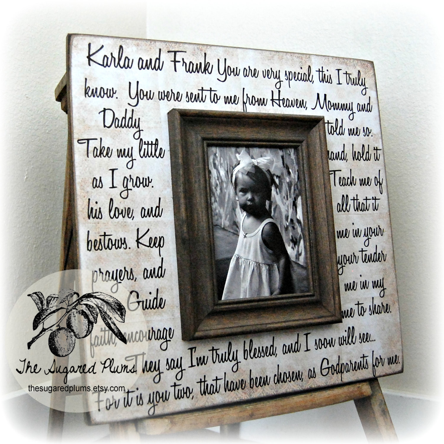 Best ideas about Baptism Gift Ideas From Godmother . Save or Pin Godmother Gift Godfather Gift Godparent Gift by Now.