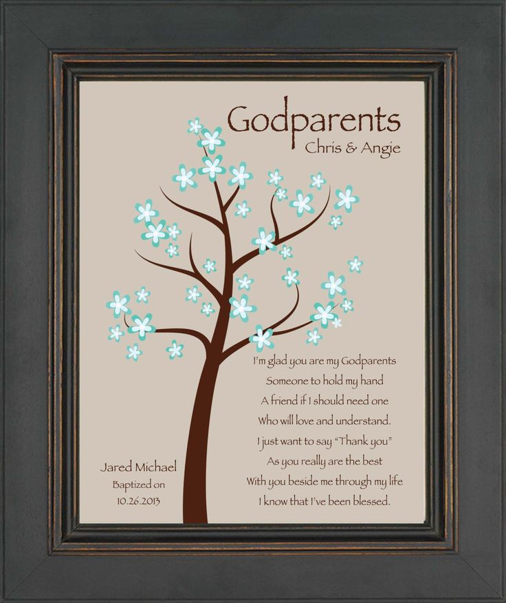 Best ideas about Baptism Gift Ideas From Godmother . Save or Pin Godparents t 8x10 Print Personalized t for Now.