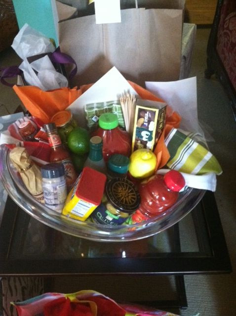 "Best ideas about Bar Gift Ideas . Save or Pin Bloody Mary Gift Basket for ""Stock the Bar"" Party Now."