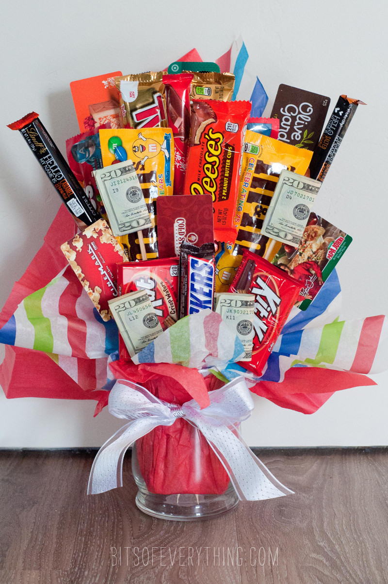 Best ideas about Bar Gift Ideas . Save or Pin Candy Bar Bouquet Now.