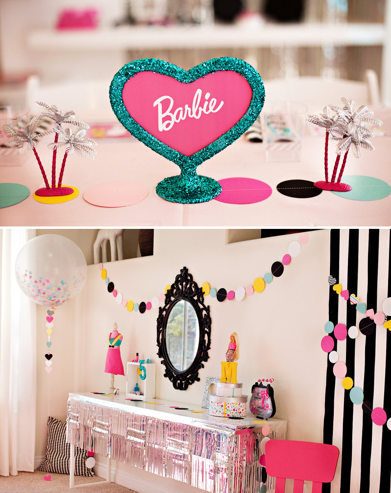 Best ideas about Barbie Birthday Party . Save or Pin Colorful & Modern Barbie Birthday Party Ideas Hostess Now.
