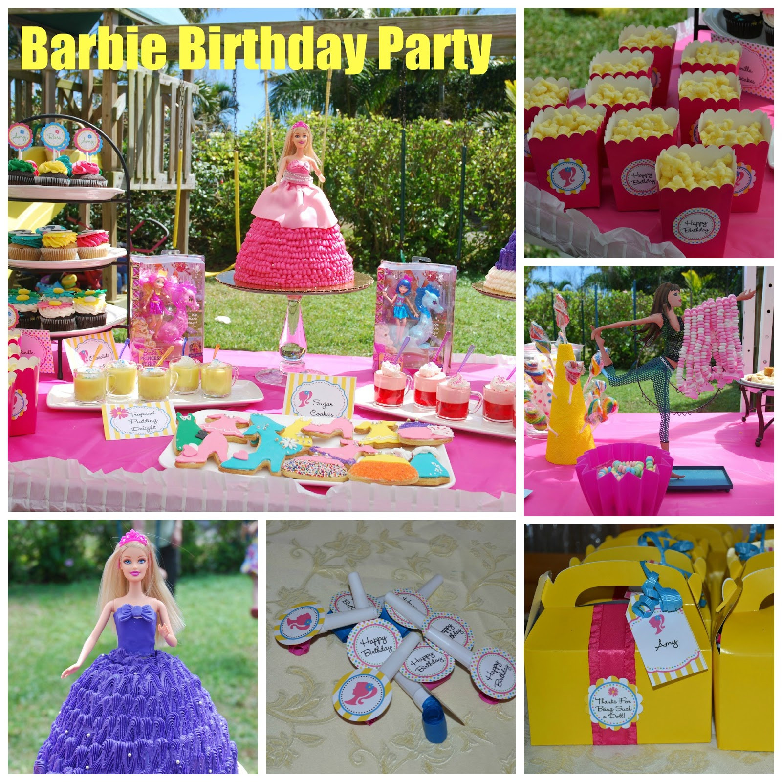 Best ideas about Barbie Birthday Party . Save or Pin Food Family Fun Barbie Birthday Party Now.