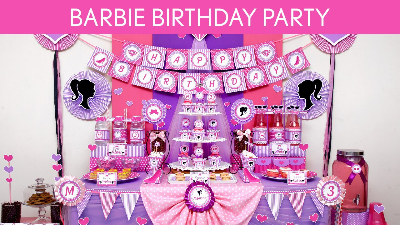 Best ideas about Barbie Birthday Party . Save or Pin Barbie Birthday Party Ideas Barbie B129 Now.