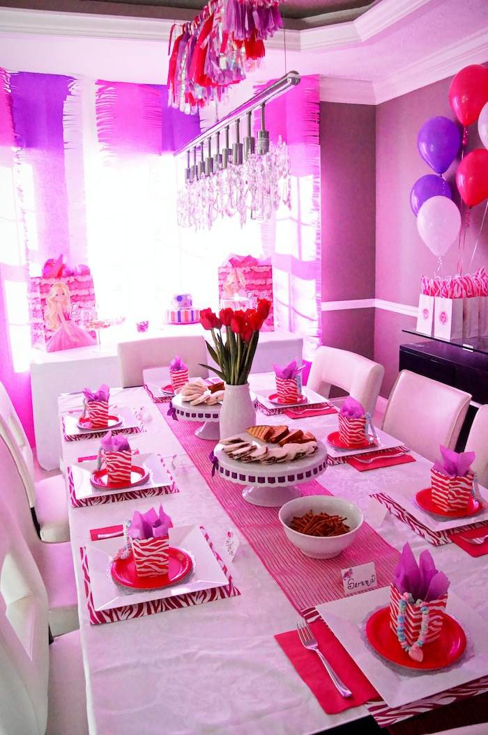 Best ideas about Barbie Birthday Party . Save or Pin Kara s Party Ideas Glamorous Barbie Birthday Party Now.