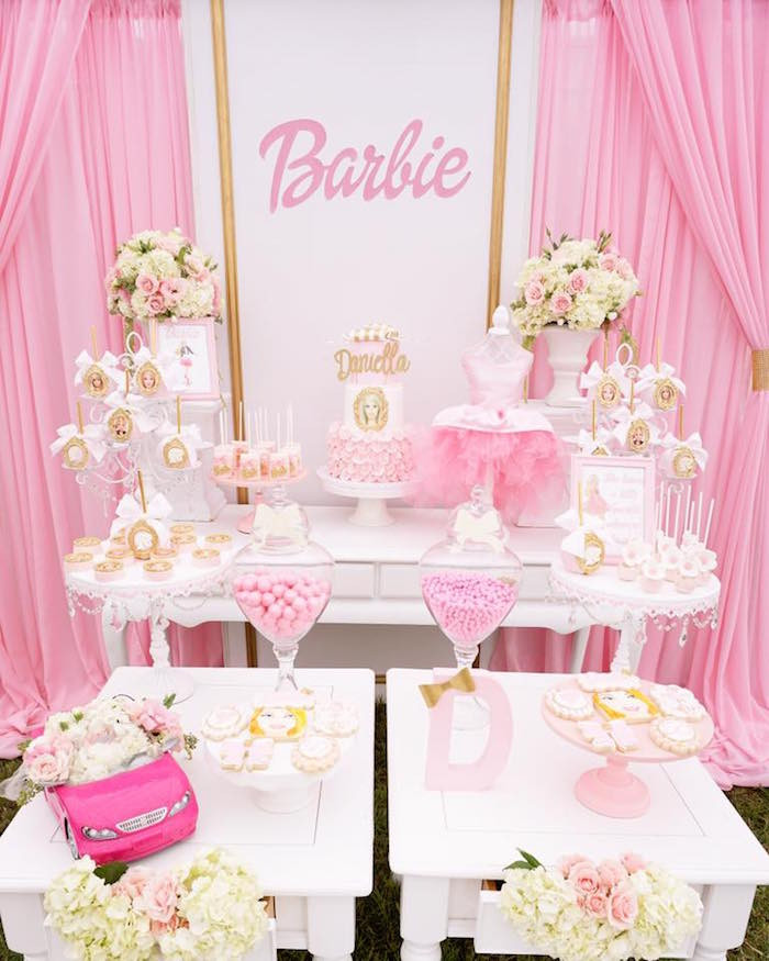 Best ideas about Barbie Birthday Party . Save or Pin Kara s Party Ideas Pink Glam Barbie Birthday Party Now.