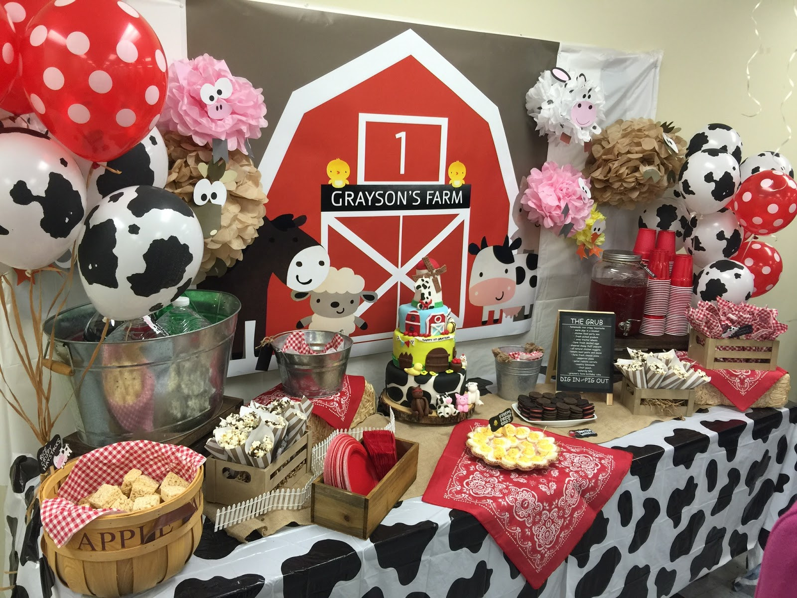 Best ideas about Barn Birthday Party . Save or Pin Barnyard Themed First Birthday Party Everything Home Now.