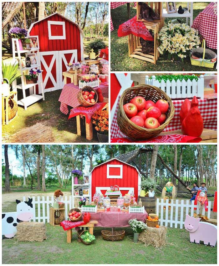 Best ideas about Barn Birthday Party . Save or Pin Kara s Party Ideas Chic Barnyard Birthday Party Now.